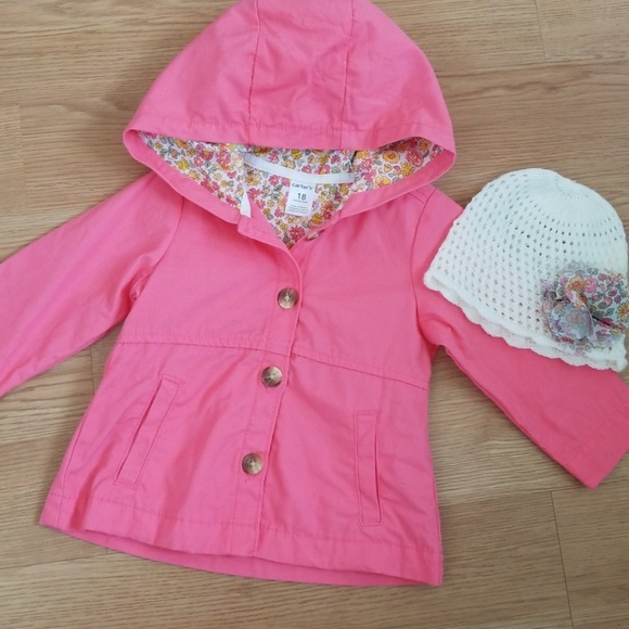 aff6e5bd9 Carter's Jackets & Coats   Carters Baby Girl Fall Jacket Knit Hat 18 ...